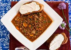 French Lentil Soup with Smoked Paprika: Rich, umami, smoky flavors - EASY to make! #vegan
