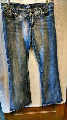Victoria Beckham Rock & Republic Women's Jeans Cotton Blend USA Sz 31 #VictoriaBeckham #Flare