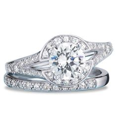 A beautiful, round-cut, 1 1/2 carat center-stone CZ with a matching band. Regularly $79.99, shop Avon Jewelry online at http://eseagren.avonrepresentative.com