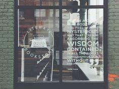 30 Excellent Bookstore Windows From Around the World: Literati Bookstore, Ann Arbor, MI -- Gorgeous hand-painted windows by Samantha Schroeder.
