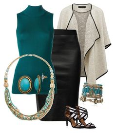 """The right jewelry makes the right statement with this convertible day/night outfit."" by pjnemchin on Polyvore featuring Forever New, Helmut Lang, Proenza Schouler, Maise and Sonoma life + style"