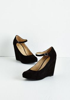 That?s Classy-fied Heel in Nightfall - High, Faux Leather, Black, Solid, Party, Holiday Party, Good, Wedge, Variation