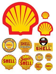 1 25 G Scale Model Shell Oil Gasoline Station Gas Signs Vintage Signs, Vintage Ads, Scale Models, Station Essence, Shell Gas Station, Train Miniature, Pompe A Essence, Diy And Crafts, Paper Crafts