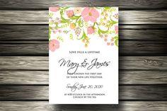 Wedding invitation. Wedding Fonts. $3.00