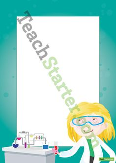 Page border with a Science theme.