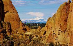 Mt Jefferson from Smith Rock, Terrebonne, Oregon April 27, 2013