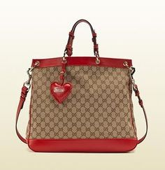 shopstyle.com: Valentine Bag With Hand Stitched Heart-Shaped Leather Charm And Gucci Script Logo