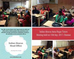 Indian Abacus tutor training indianabacus.com