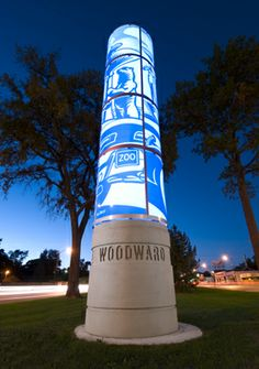 The Tributes initiative was conceived as a series of 30-foot tall, illuminated towers that tell the story of Woodward Avenue, now designated as a National Byway. When completed, upwards of two dozen Tributes will stretch along the 26 miles of historic Woodward Avenue from Detroit to Pontiac.