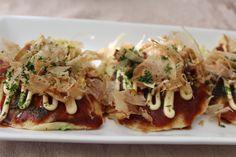 Okonomiyaki with seafood and tofu