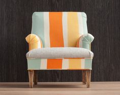 1/4 scale Striped Doll Chair Decorative armchair by toteetoy