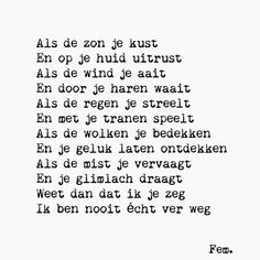 ❤ Sad Words, Love Words, Best Quotes, Funny Quotes, Life Quotes, Qoutes, Dutch Words, Wedding Poems, Dutch Quotes