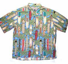 Vintage 90s Reyn Spooner Rayon Hawaiian Shirt Mens Size Large available at Vintage Mens Goods. | vintagemensgoods