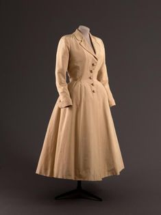 Frock coat, Jacques Fath designer, French, 1948-49