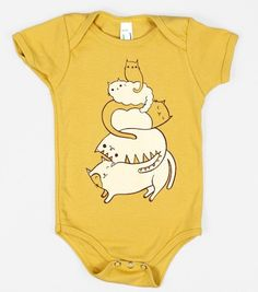 Cute cat stack onesies! The cutest.  At boygirlparty