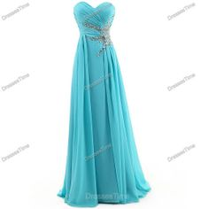 blue evening gown/prom dress on Wanelo