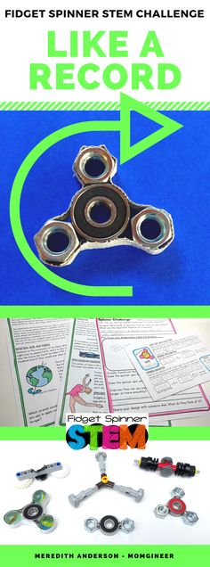 Fidget spinners taking over your classroom? Turn the obsession into a learning opportunity! Research DIY designs, brainstorm your own, then design, create, and test the design! This is an ideal STEM activity for project-based learning. | Meredith Anderson Momgineer