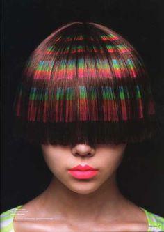 Rainbow stencil color efect
