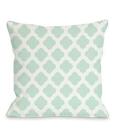 Another great find on #zulily! Fair Aqua Square Moroccan Pillow #zulilyfinds