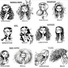 The expectations VS reality. Lol... #hair #hairstyle #curlyhair #curls #beauty