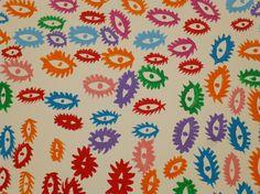 Yayoi Kusama Painting Eyes Detail