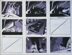 Batman The Animated Series Opening Storyboards