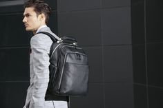 Computer backpack with iPad®Air/Air2 compartment, bottle holder and umbrella holder