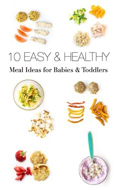Looking for some easy and healthy meal inspiration for baby-led weaning or finger foods for toddlers? Here are ten balanced meal ideas — all are baby-approved!