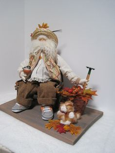 Fall Leaves Father Christmas by PutsyPlace on Etsy