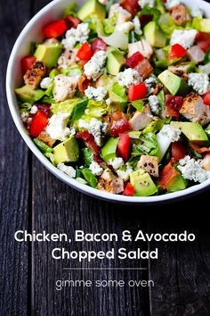 Chicken Bacon & Avocado Chopped Salad