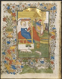 The Nativity: Leaf from a Book of Hours (3 of 6 Excised Leaves), c. 1420-1430 or workshop Henri d'Orquevaulx (French)