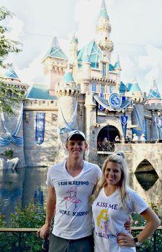 Couples Disney t shirts--Less Sleeping, More Kissing/ Kiss me, I'm Sleeping. Sleeping Beauty