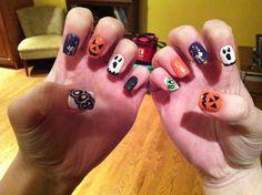 My halloween nails :) #nails #halloween #loves