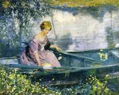 Young Girl in a boat, Karl Albert Buehr