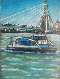 Original Art ACEO: Travel Bug 5, Rotterdam (the Netherlands). $25.00, via Etsy.