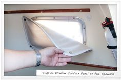 Boat-Window-Curtain-Panel. What about magnetic? Guess it depends on what's around the window