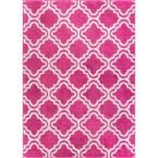 StarBright Calipso Pink 7 ft. 10 in. x 10 ft. 6 in. Kids Area Rug