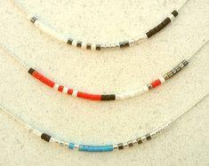 Minimalist Gold Delicate Necklace with Tiny Beads by FollowFelia