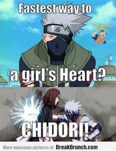 fastest way to a girl's heart, chidori, naruto, kakashi