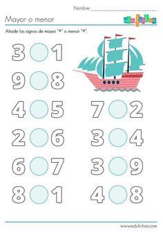Kindergarten Math Worksheets, Math Literacy, Numbers Preschool, Preschool Math, Teaching Numbers, Fun Math Activities, First Grade Math, Math For Kids, Math Lessons