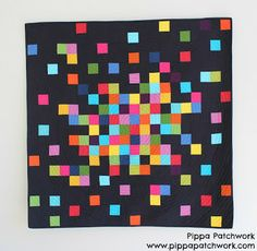 Pixelated Patchwork Quilt  By Pippa Patchwork  Moda Bake Shop: Quilt
