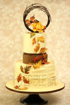 Autumn Wind -Wedding Cake - Cake by Rumana Jaseel