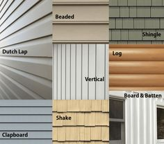 different types of home siding - mandinifity Our exhaustive mobile home siding guide covers all the best siding options for your mobile or manufactured home. House Siding Options, Exterior Siding Options, Exterior House Siding, Clapboard Siding, Shingle Siding, Metal Siding, Siding For Houses, Vinyl House Siding, Hardiplank Siding