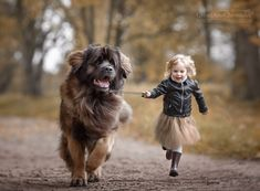"""= at a run = from project """"Little Kids and Their Big Dogs"""""""