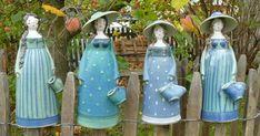 Aus Meisterhand liebevoll gefertigte Keramikdamen Handmodellierte Keramik Objekte in großer Auswahl zieren Ihren Garten auf vielfältige Weise.