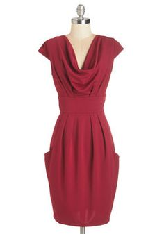I keep thinking I need a red dress.  This is a very nice structured option Sway Attention Dress