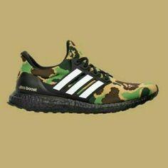 Adidas x Bape Ultraboost 4.0 Black Bape Camo Uk 11, Depop