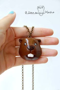 Beaver necklace. Handmade.