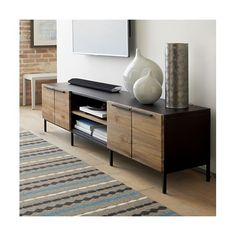 rigby media console with base crate and barrel