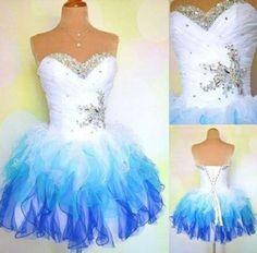 A-line Ombre Prom Dress,Unique Short Homecoming Dress,Tee prom dress Cute dress